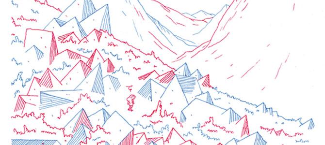 Illustration Au pays des lignes, Victor Hussenot